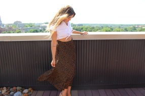 Blouse from Tandem Vintage. Skirt found thrifting in LA.